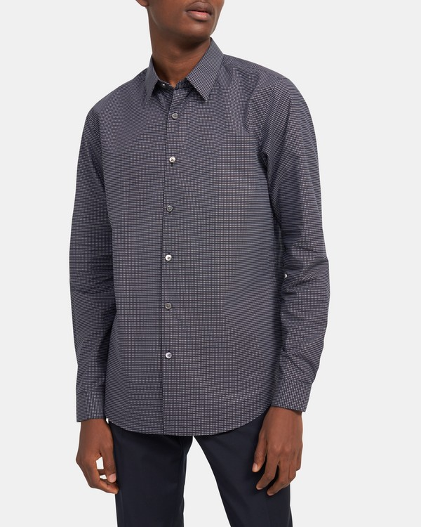 Irving Shirt in Grid Cotton