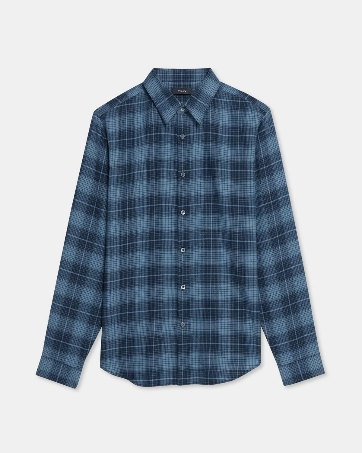 Irving Shirt in Grid Cotton Flannel