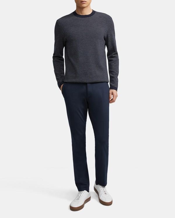 띠어리 맨 스웨터 Theory Crewneck Sweater in Striped Merino Wool