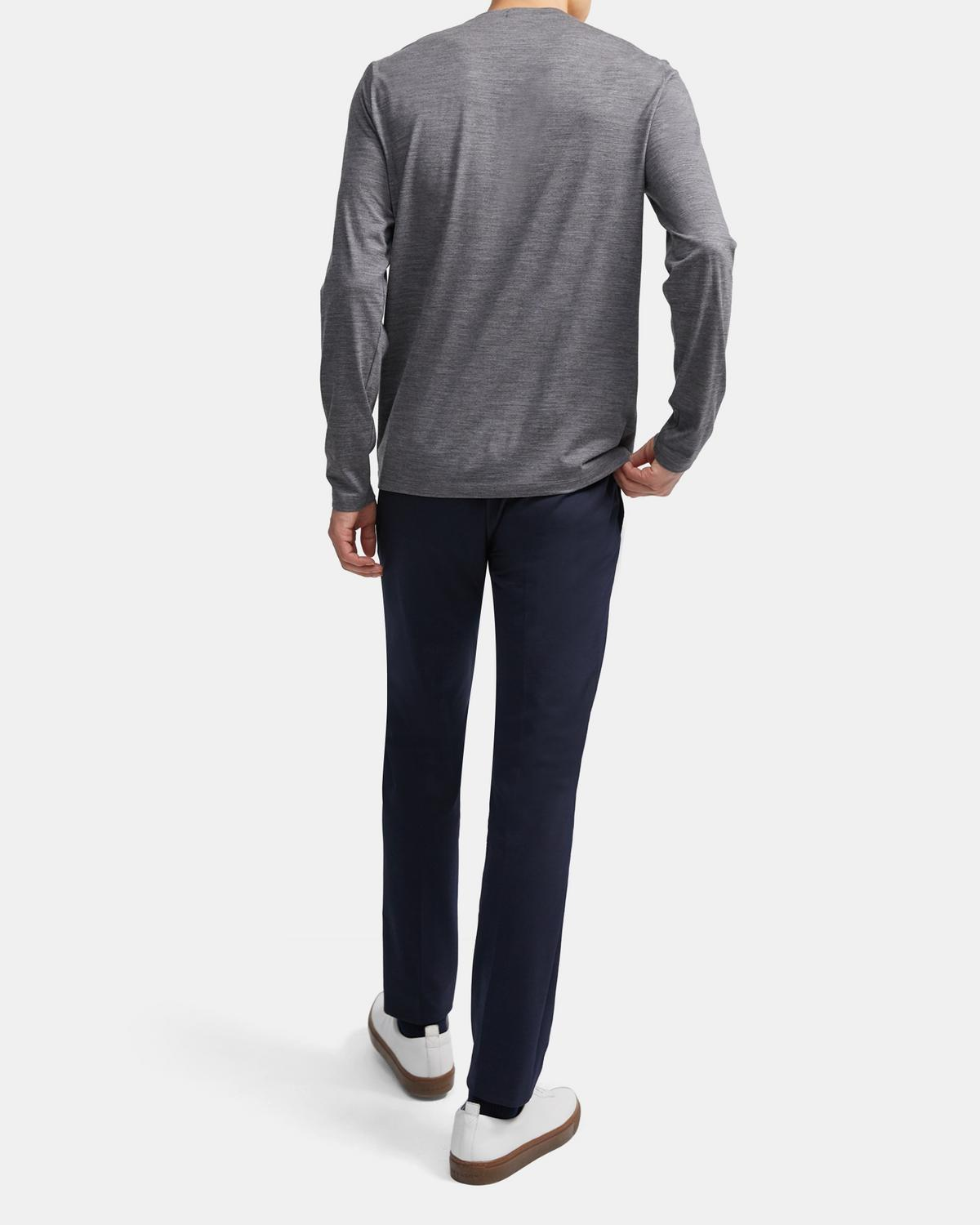 Long-Sleeve Tee in Active Wool