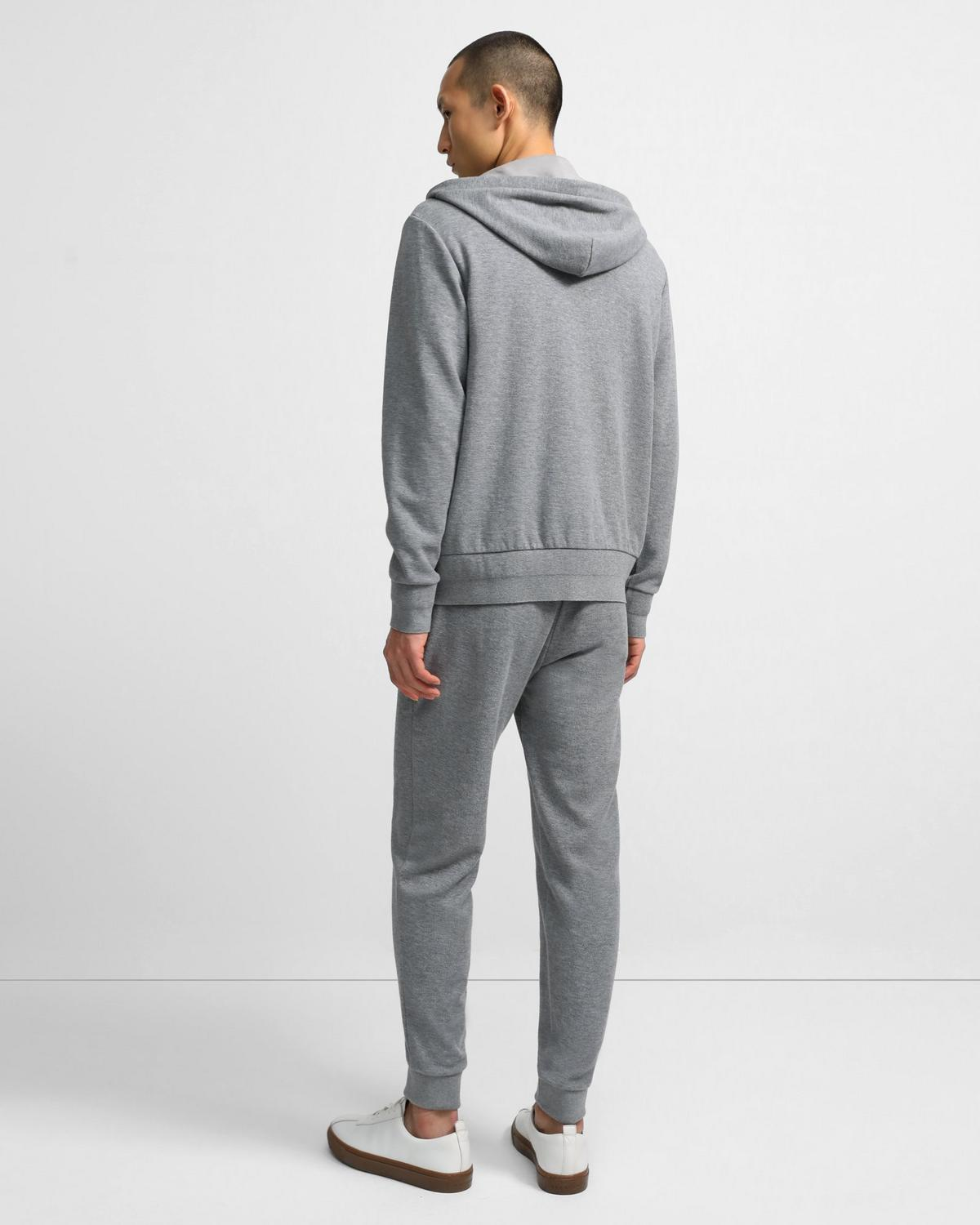 Zip Hoodie in Waffle Knit Organic Cotton
