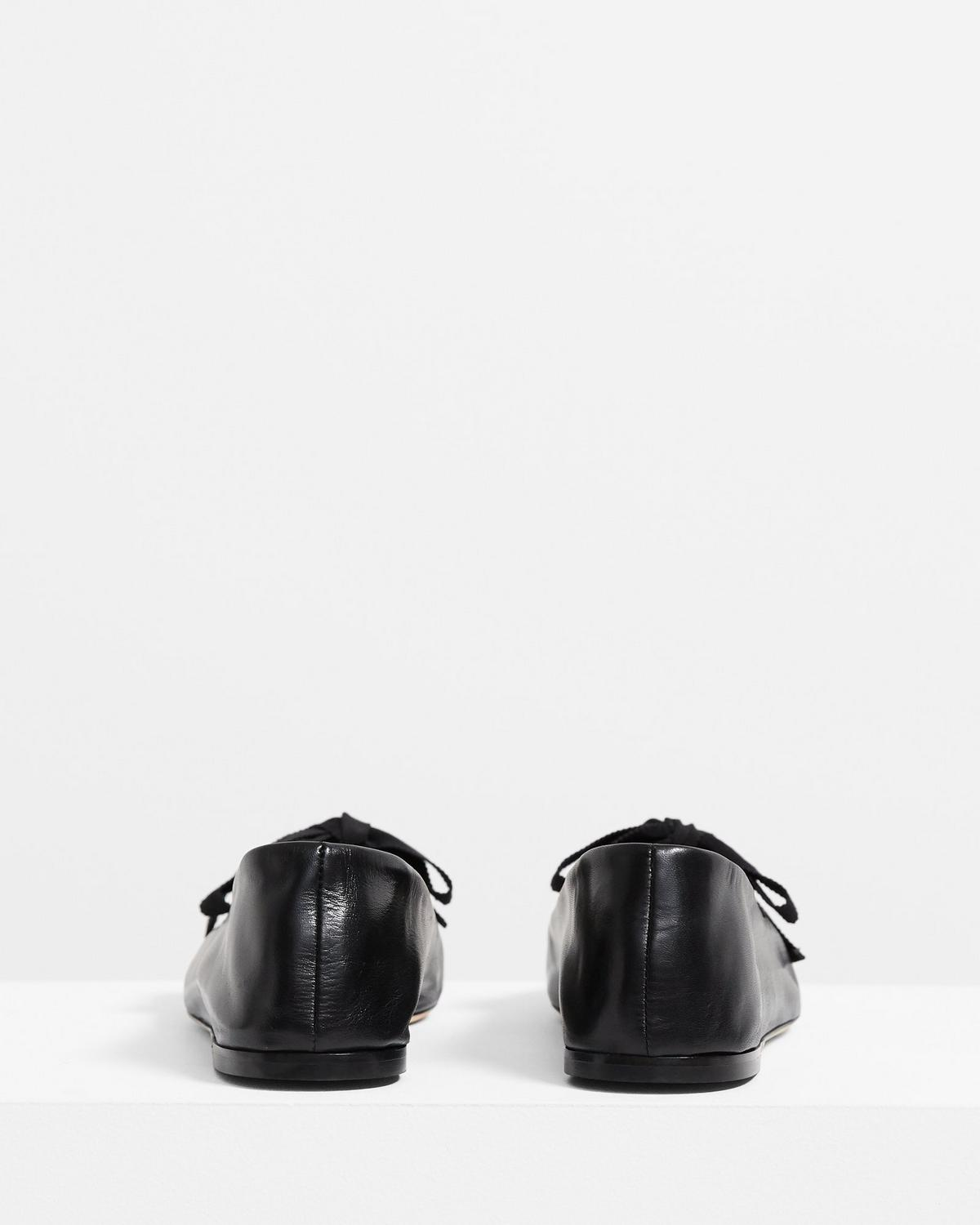 Leather Bow Ballet Shoe
