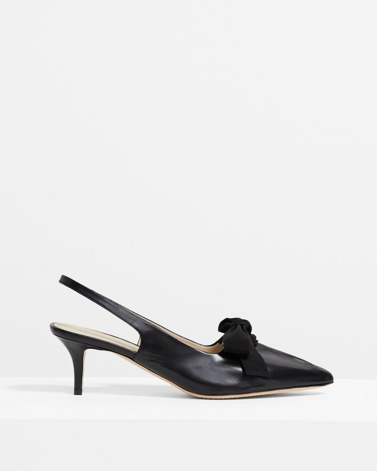 Leather Bow Slingback