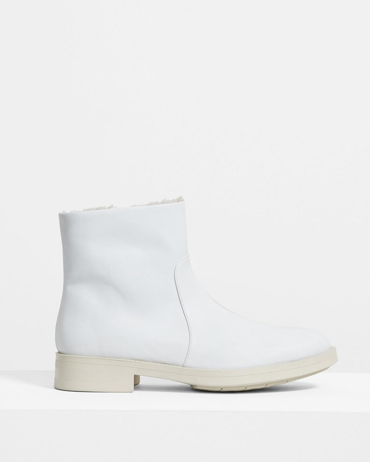 Shearling-Lined Bootie in Leather