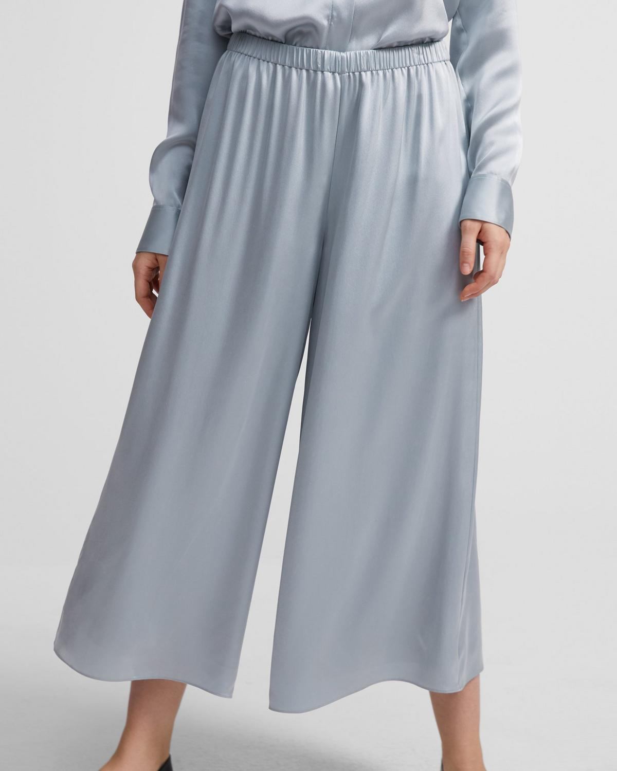 Pull-On Pant in Washed Satin