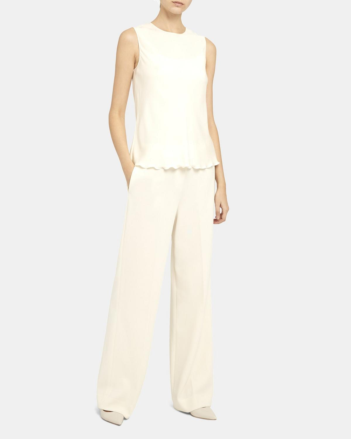 Crepe Wide Trouser