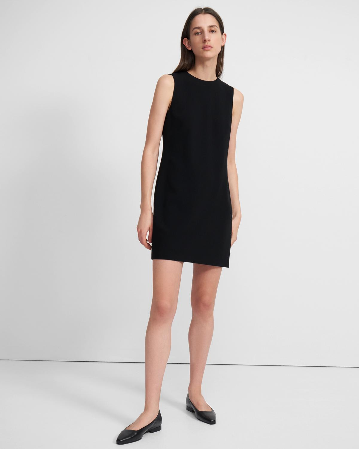 Easy Shift Dress in Crepe