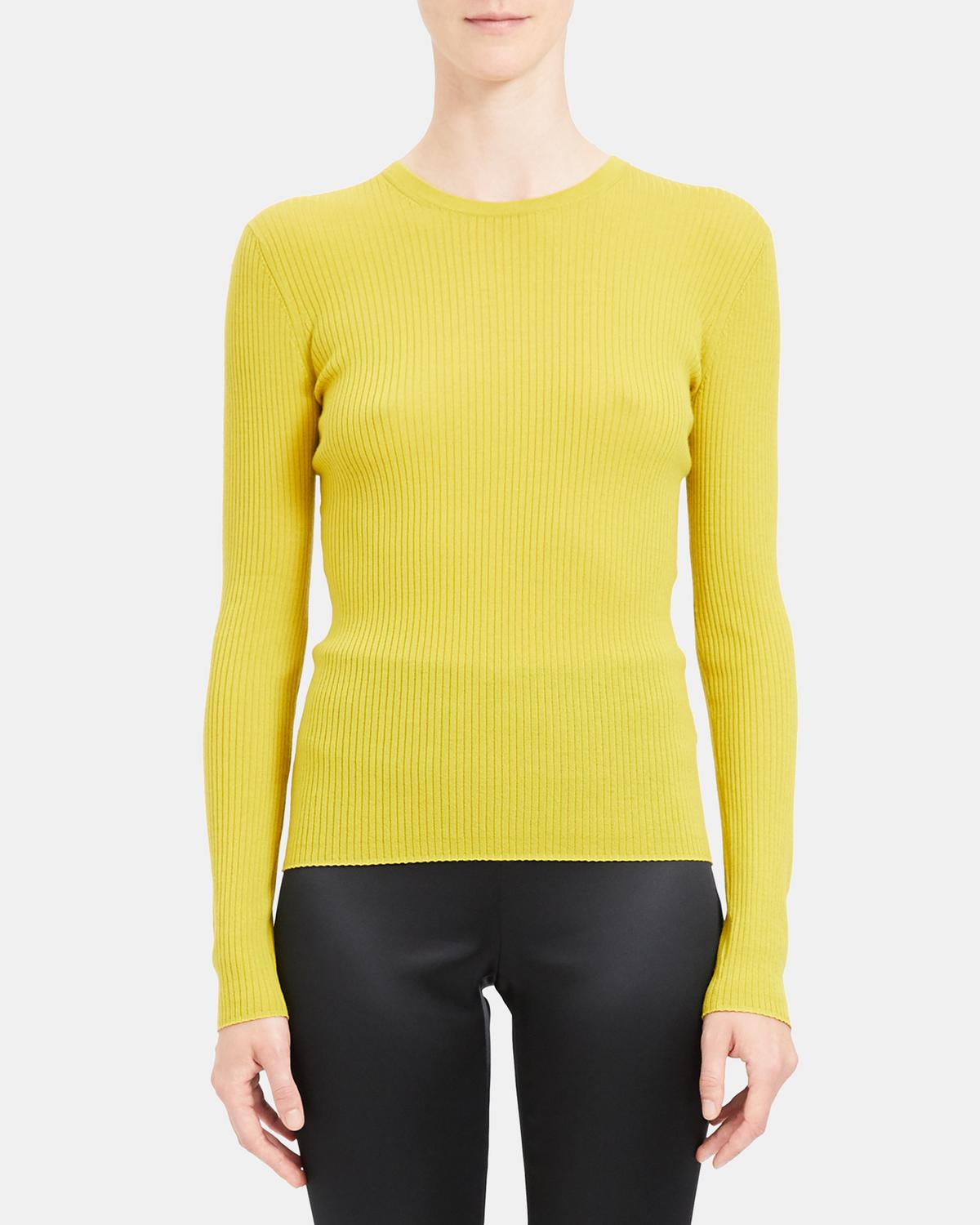 Crewneck Sweater in Ribbed Regal Wool