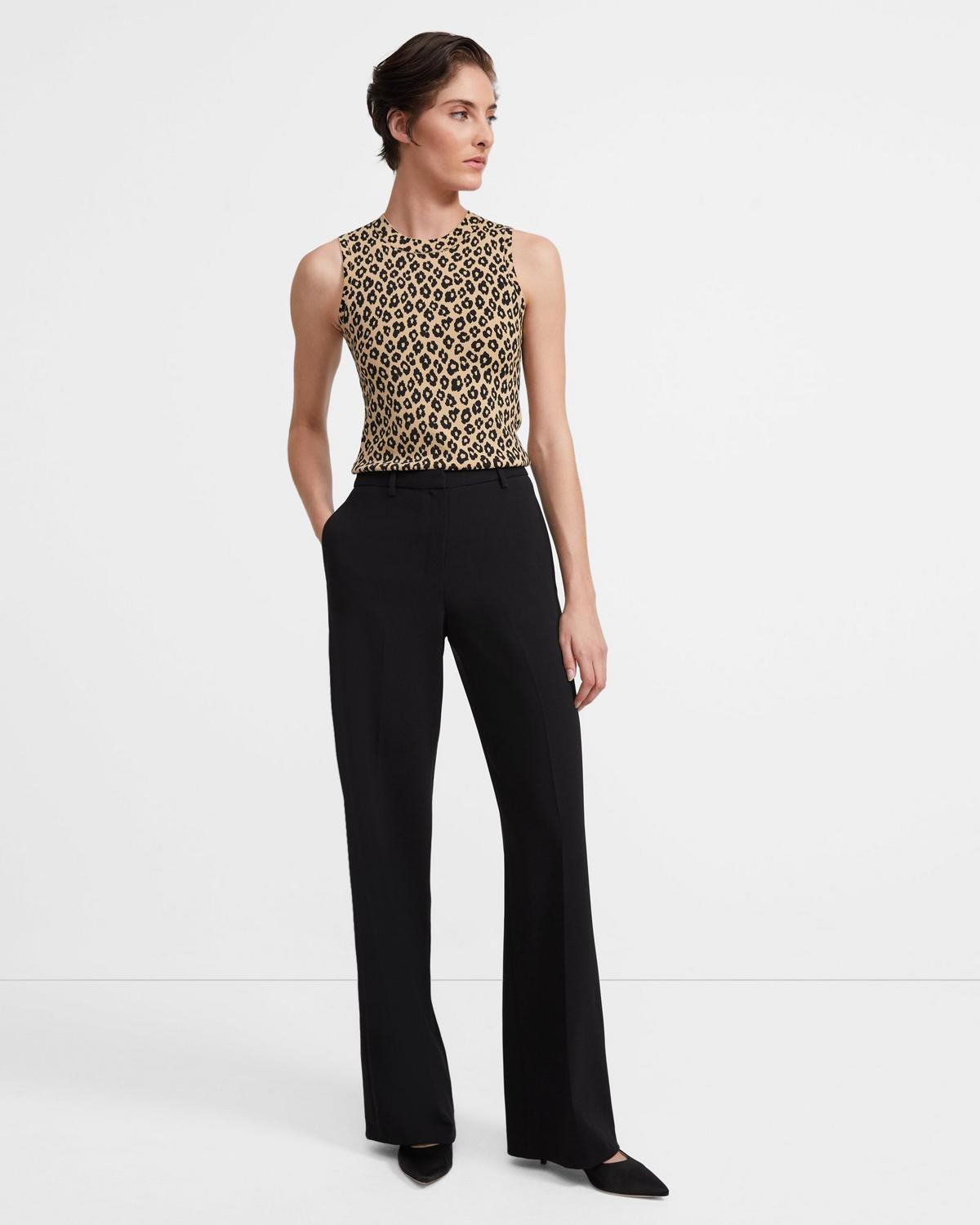 Shell Top in Leopard Knit