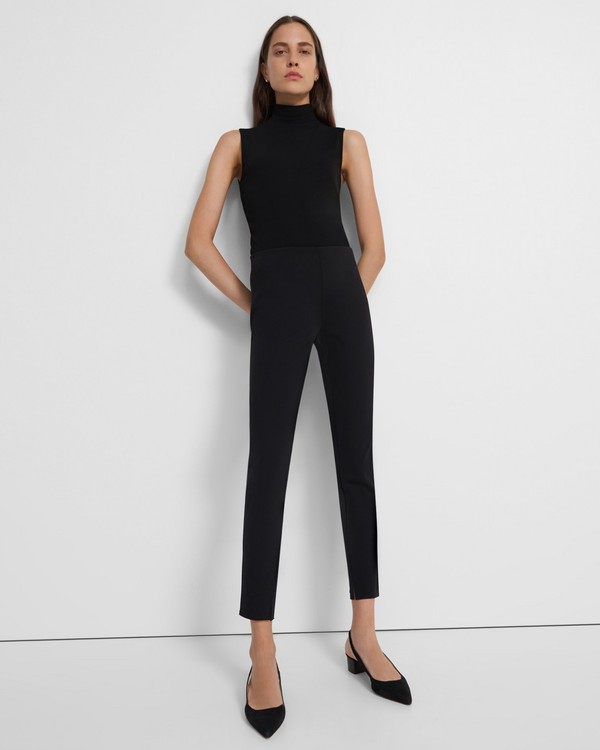 띠어리 Theory Skinny Legging in Scuba,BLACK