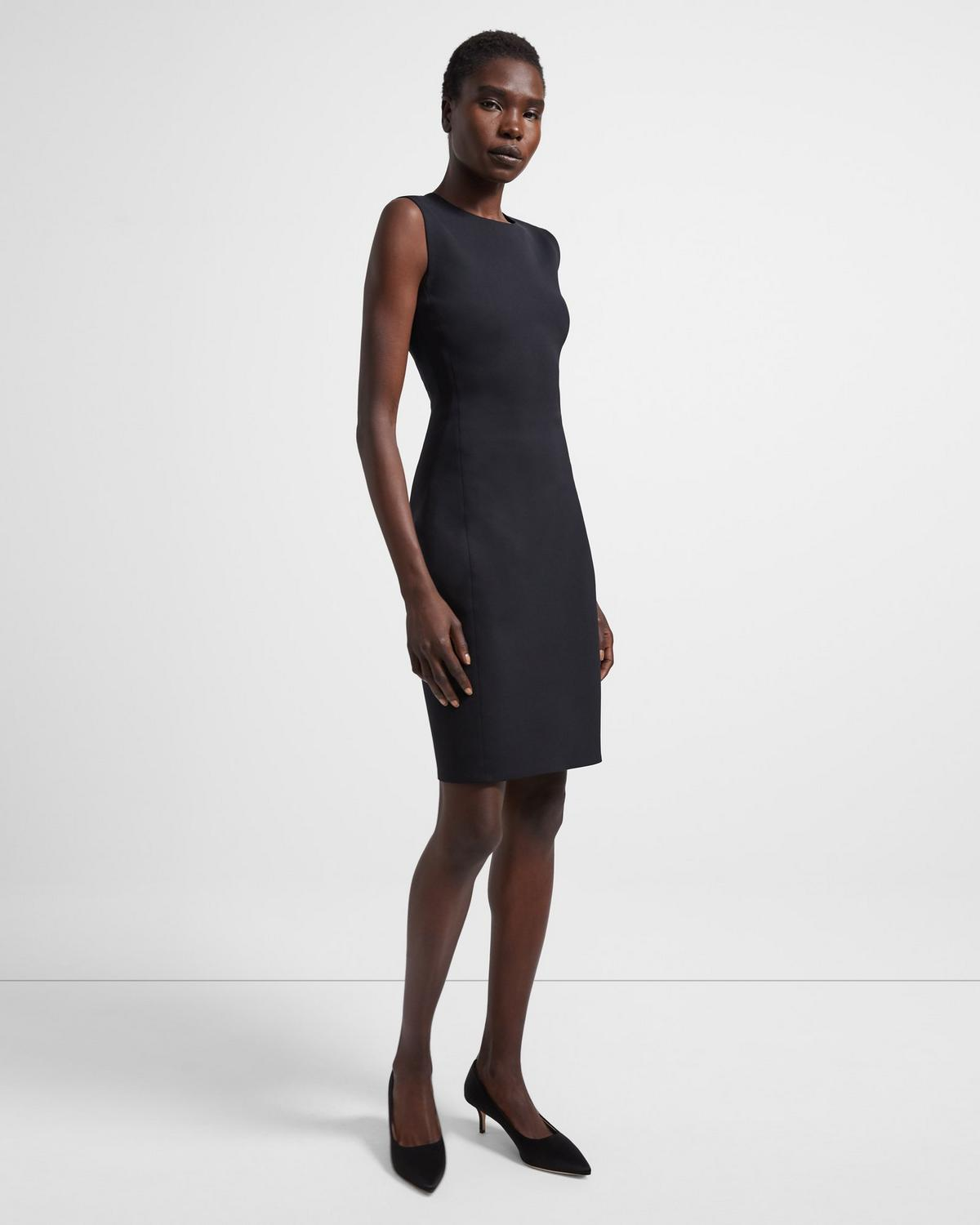 Sleeveless Fitted Dress in Scuba