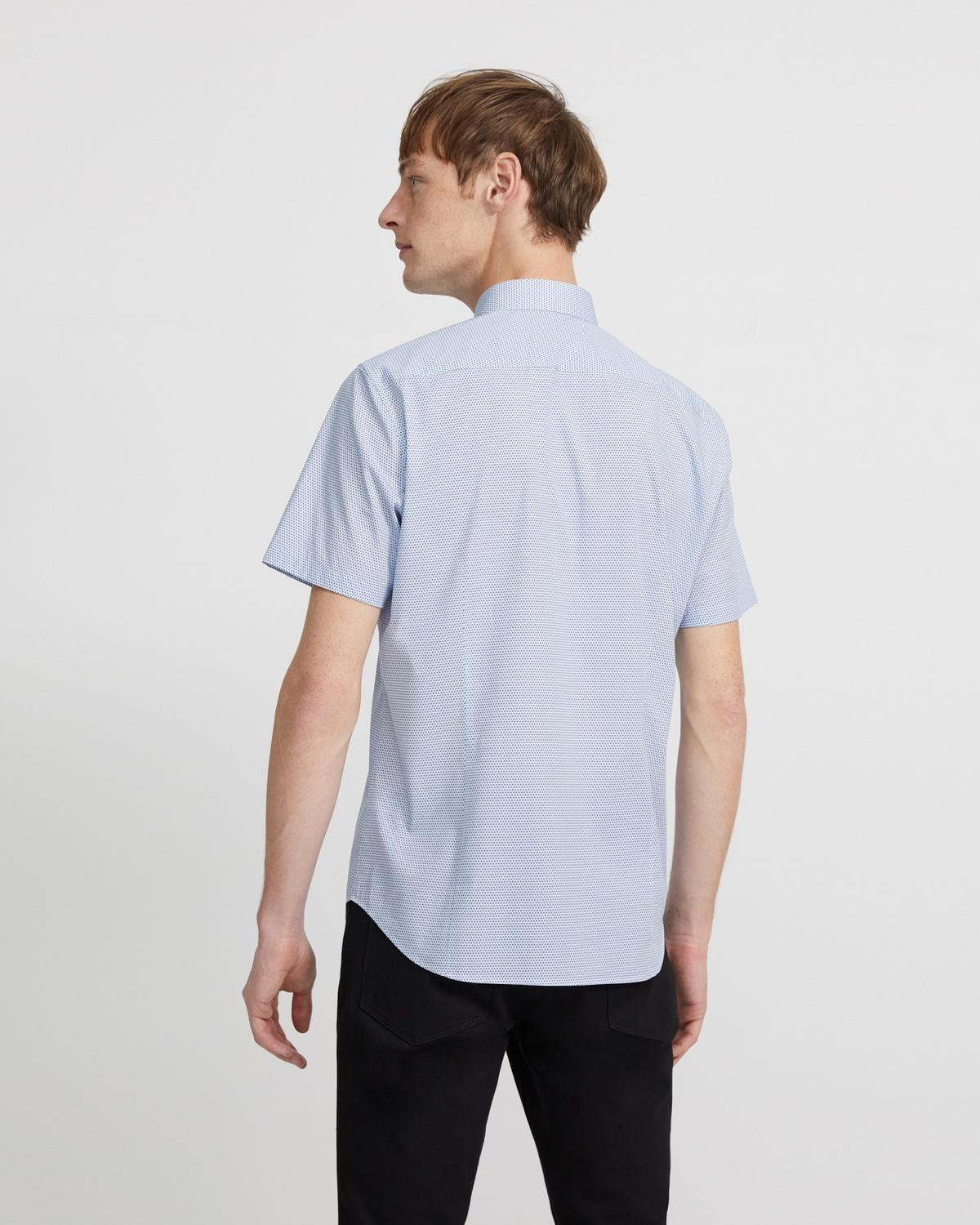 Sylvain Short-Sleeve Shirt in Printed Stretch Cotton