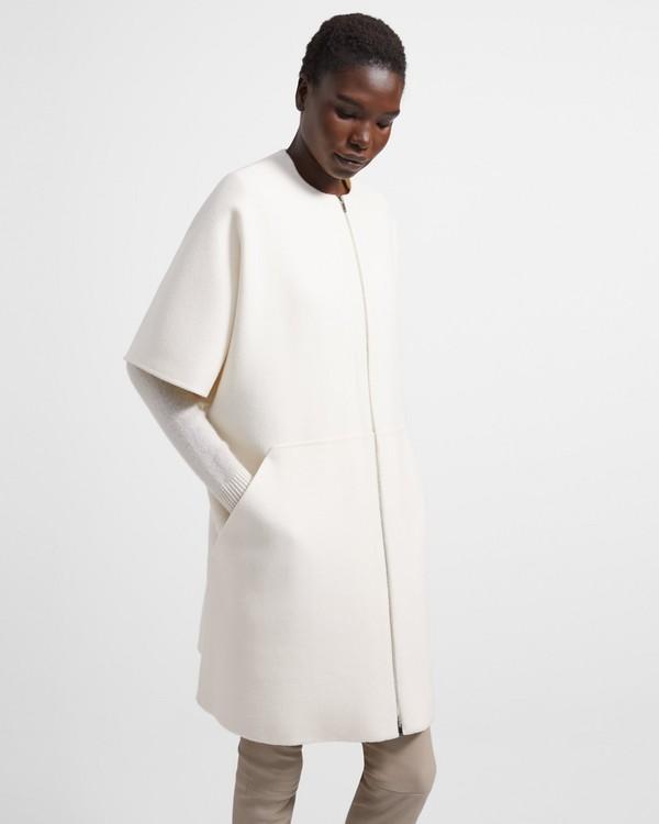 띠어리 더블 페이스드 벨 코트 - 2 컬러 Theory Bell Coat In Double-Face Wool-Cashmere