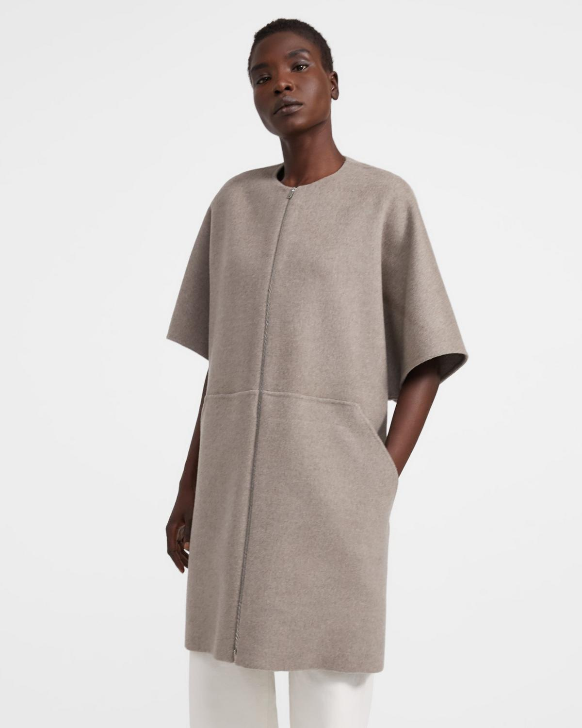 Bell Coat in Double-Face Wool-Cashmere