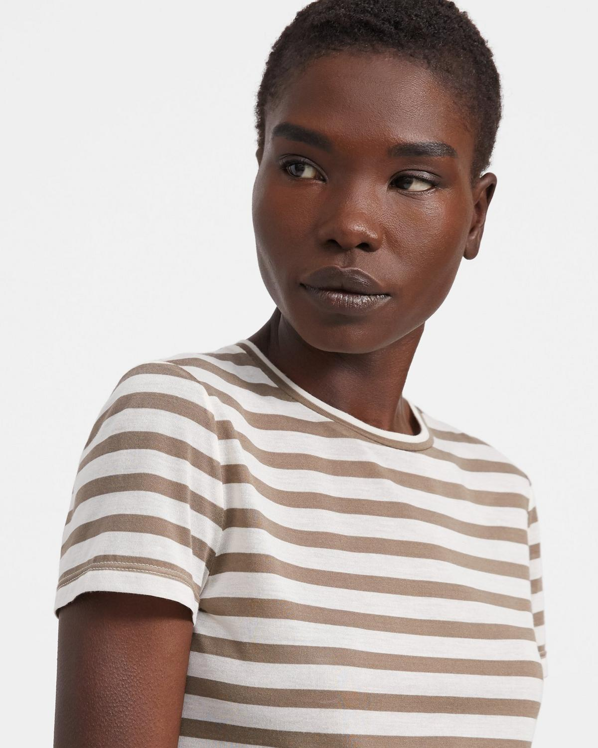 Tiny Tee in Striped Modal Jersey