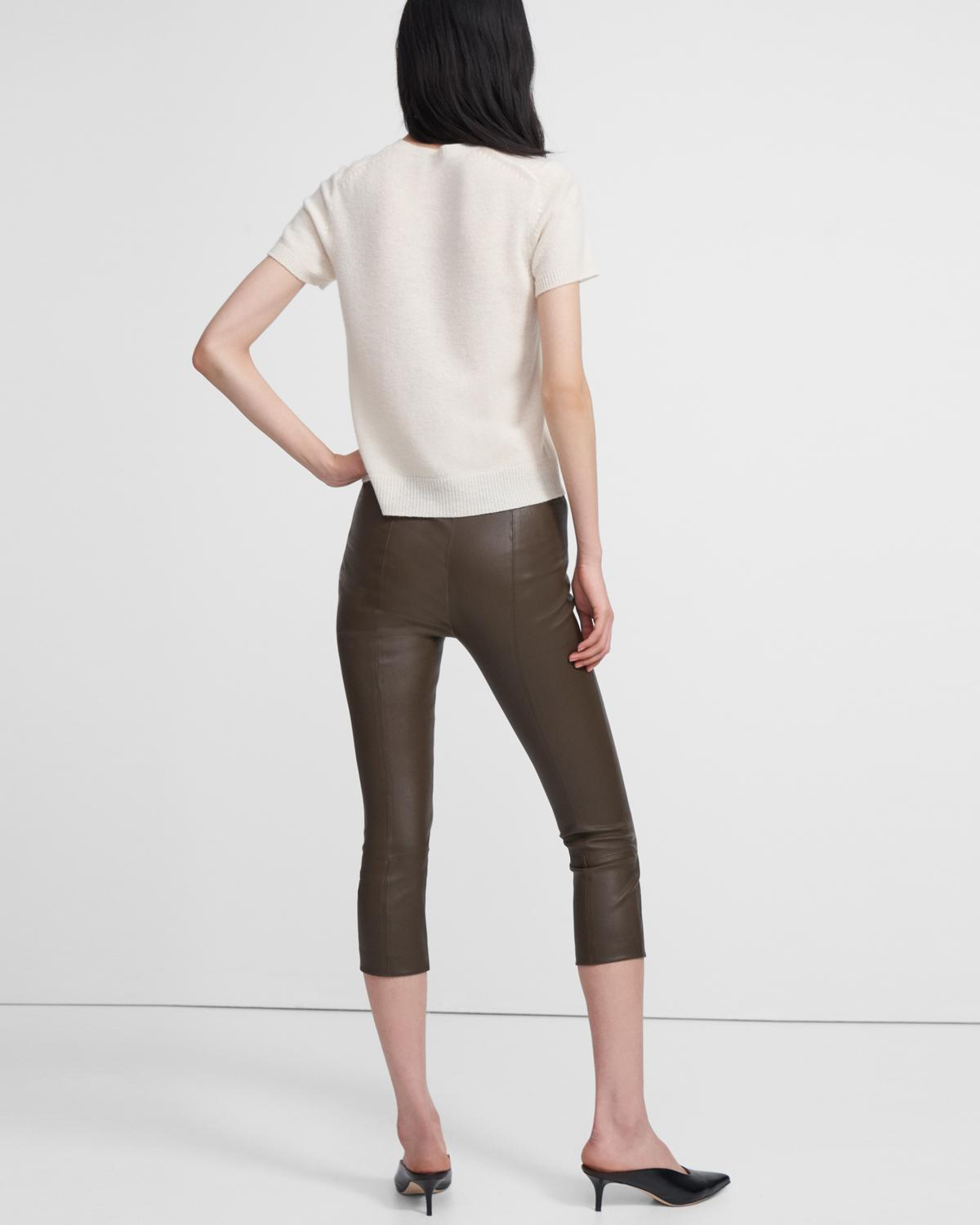 Skinny Capri Legging in Leather