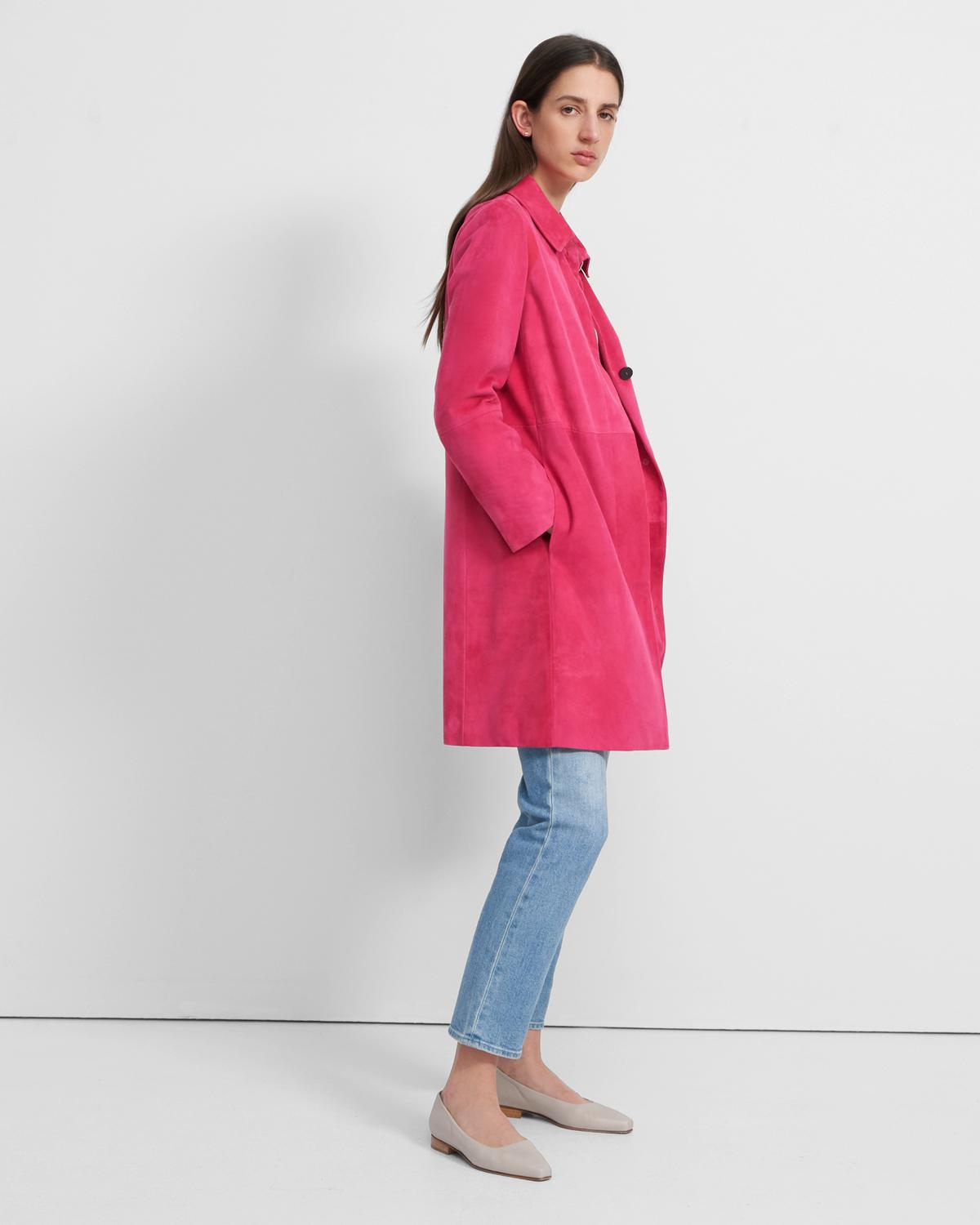 Piazza Coat in Suede