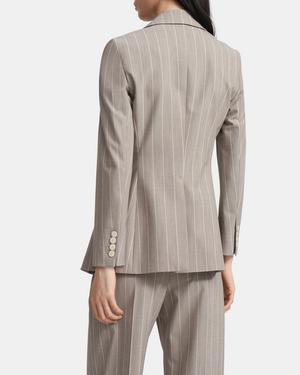 Etiennette Blazer in Striped Good Wool