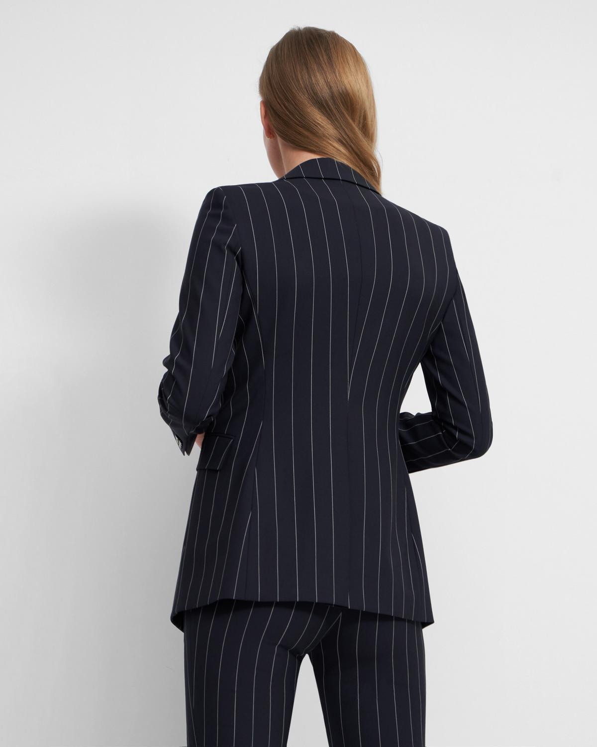 Etiennette Blazer in Striped Good Wool