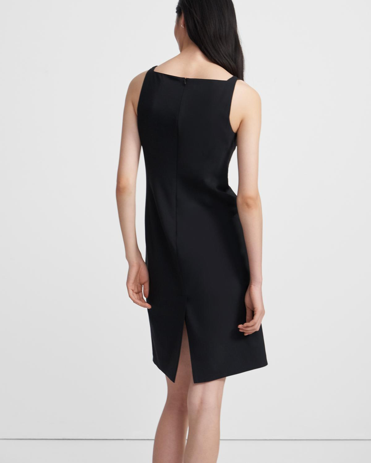 Square Neck Dress in Good Wool
