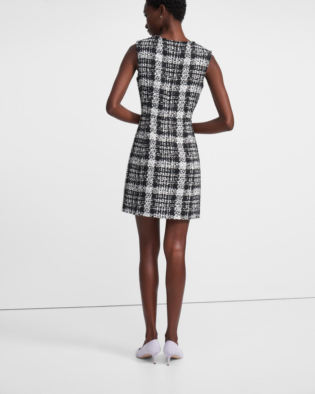 Sculpt Dress in Rubber Tweed
