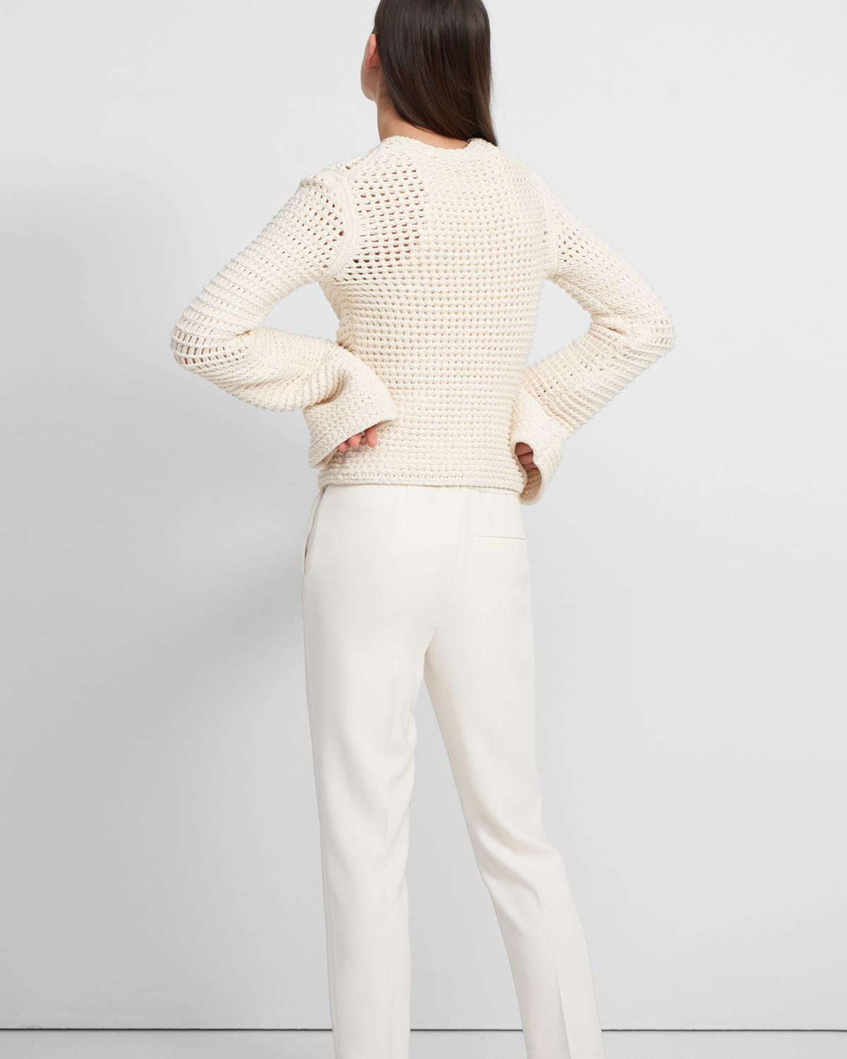 Mesh Knit Sweater in Cotton-Nylon