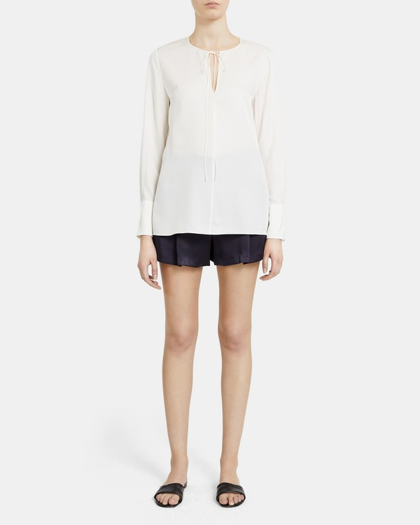 띠어리 실크 튜닉 Theory Fluid Tunic in Silk,IVORY