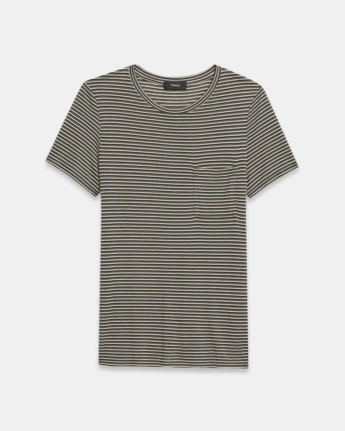 Easy Pocket Tee in Striped Jersey