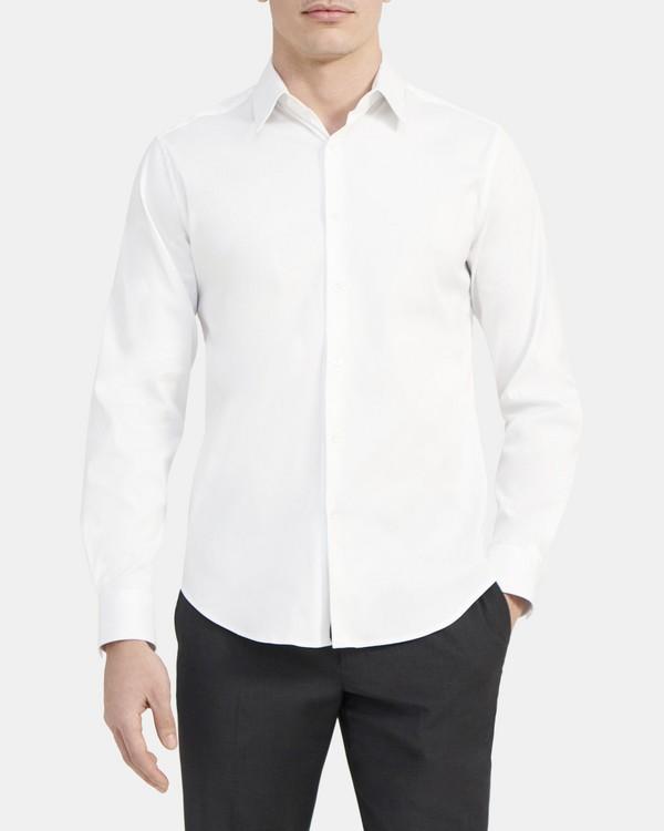 띠어리 맨 실뱅 셔츠, 스트레치 코튼 Theory Sylvain Shirt In Stretch Cotton,WHITE