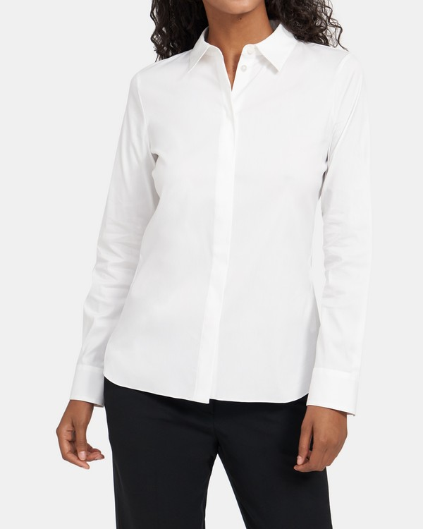 Fitted Shirt In Stretch Cotton
