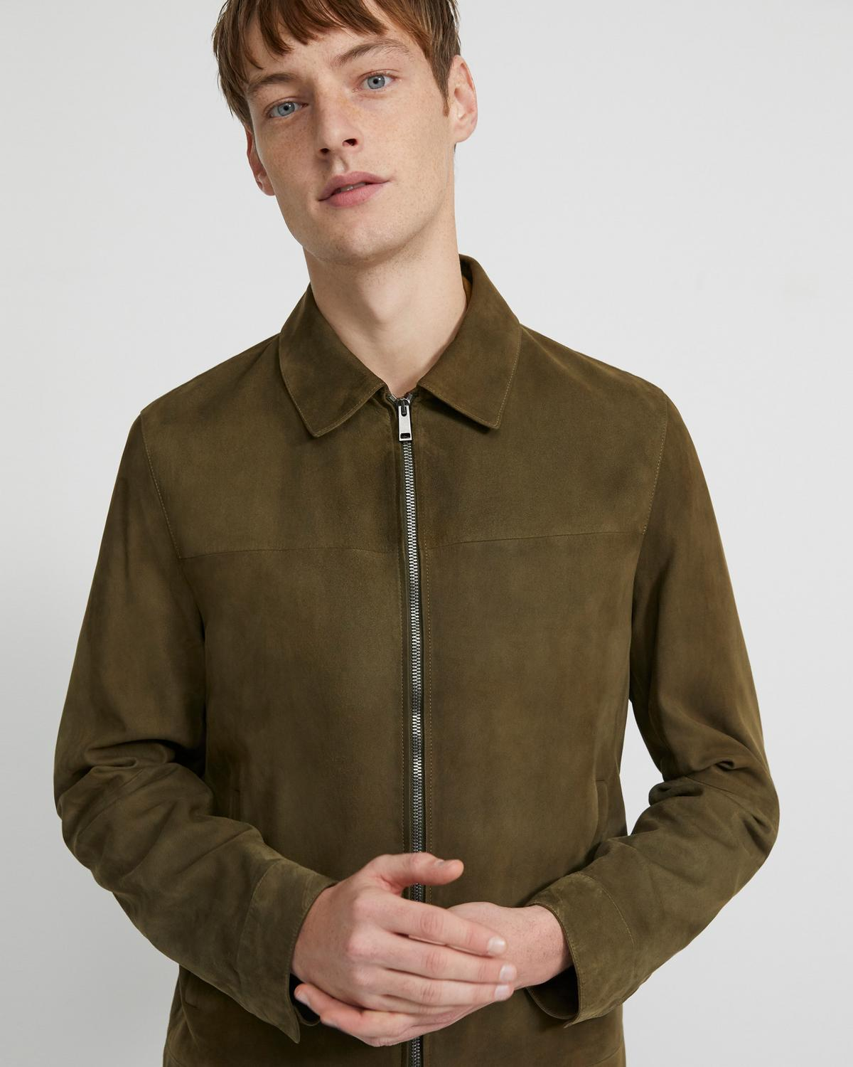 Zip Jacket in Suede