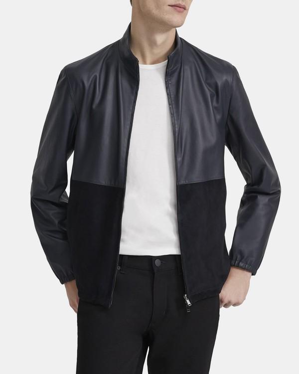 띠어리 맨 자켓 Theory Reversible Jacket in Leather,ECLIPSE