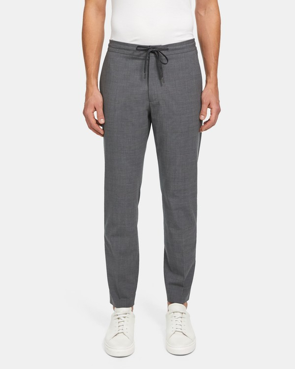띠어리 맨 팬츠 Theory Hunter Pant in Good Wool,MED GREY HEATHER