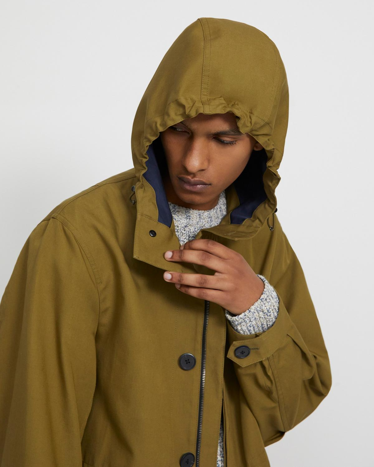 Parka in Bonded Cotton