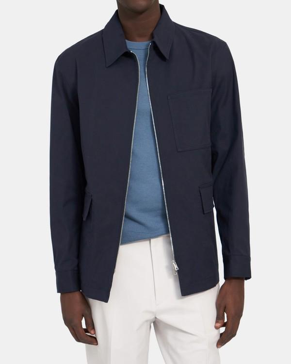 띠어리 맨 자켓 Theory Dalen Three-Pocket Jacket in Stretch Cotton,SPACE