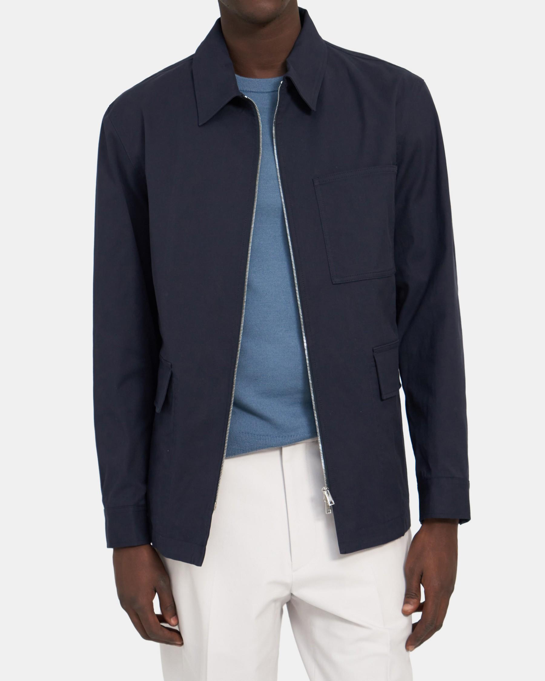 Theory Dalen Three-Pocket Jacket in Stretch Cotton