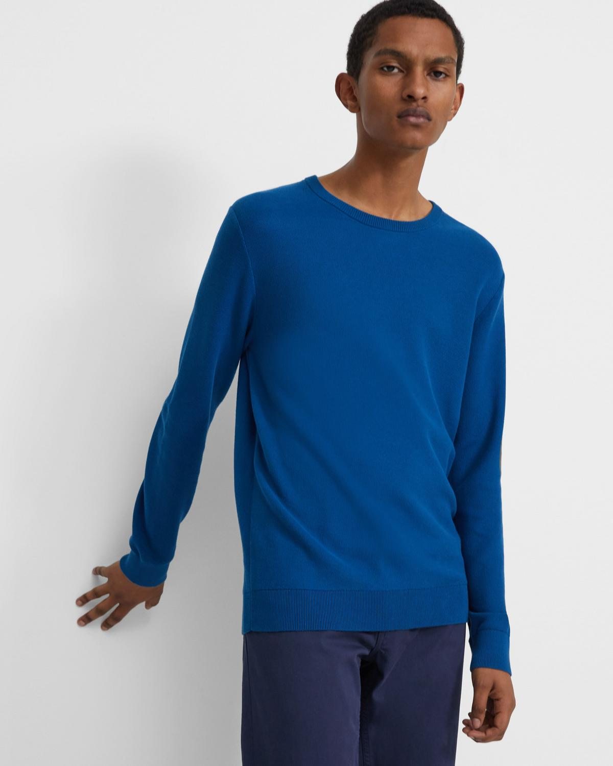 Crewneck Sweater in Piqué Cotton