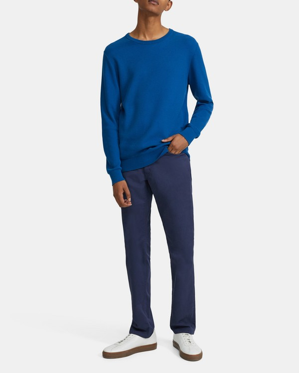 띠어리 맨 스웨터 Theory Crewneck Sweater in Pique Cotton