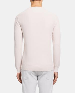 Crewneck Sweater in Piqué Cotton