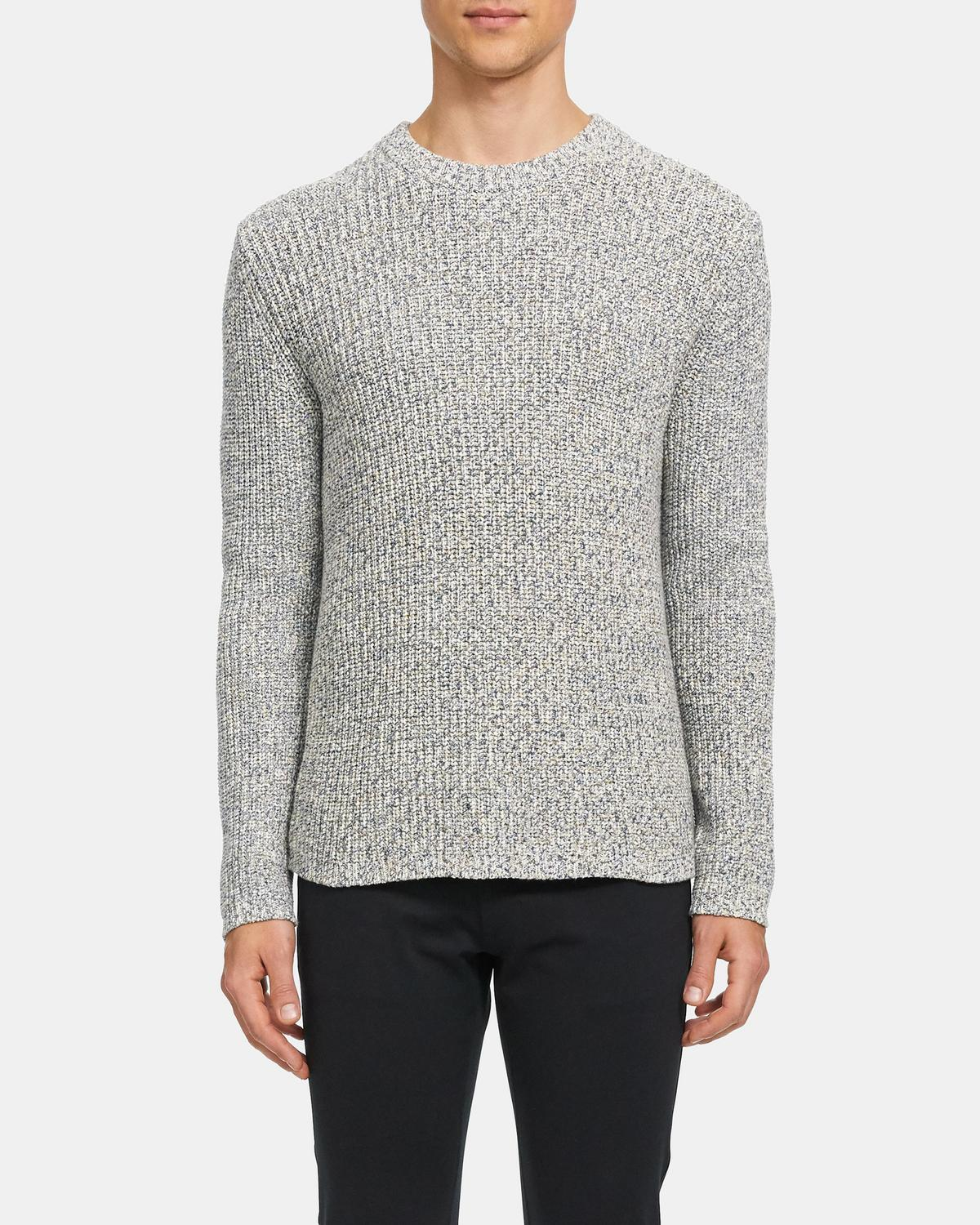 Crewneck Sweater in Speckled Cotton