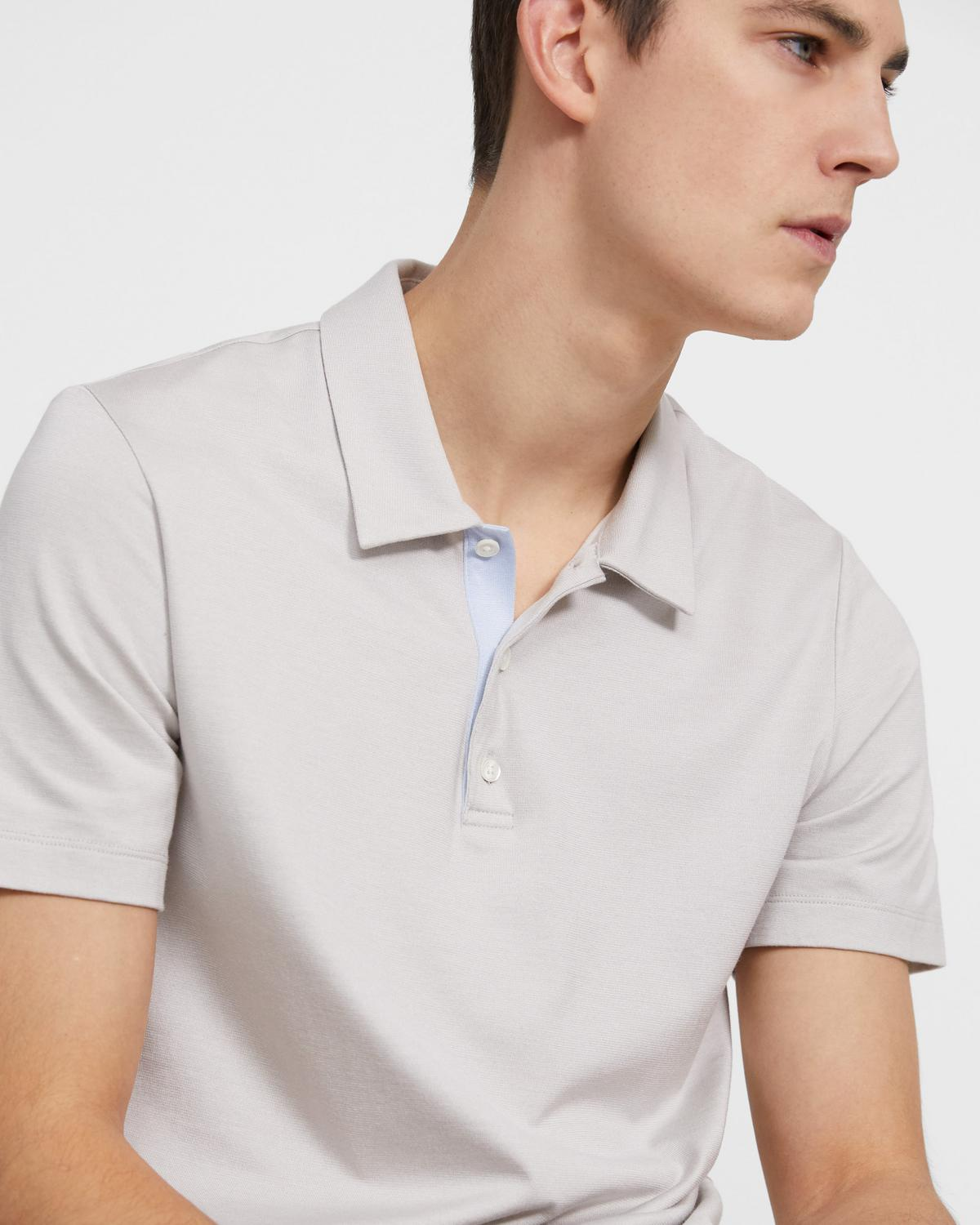 Polo Shirt in Silk-Cotton