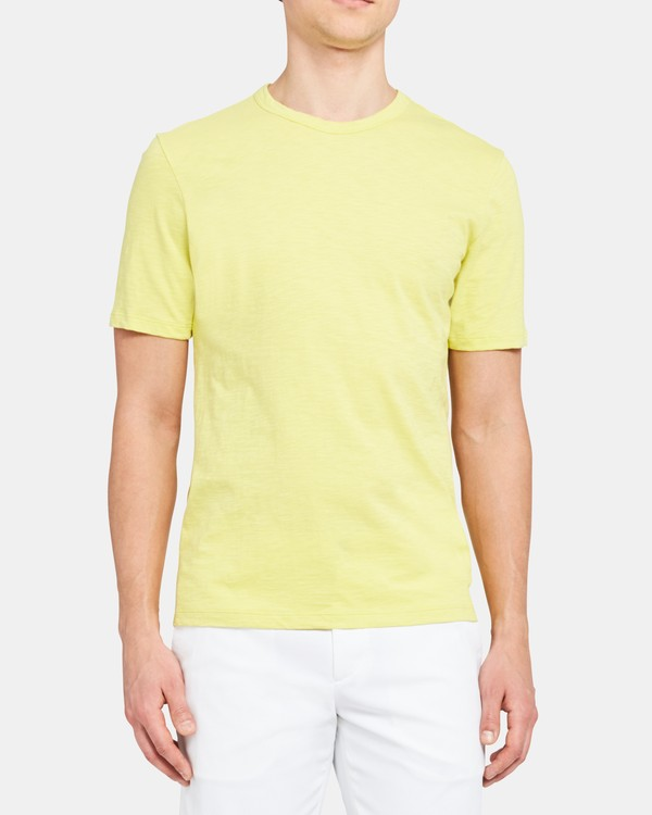 띠어리 Theory Essential Tee in Slub Cotton,LIME ZEST