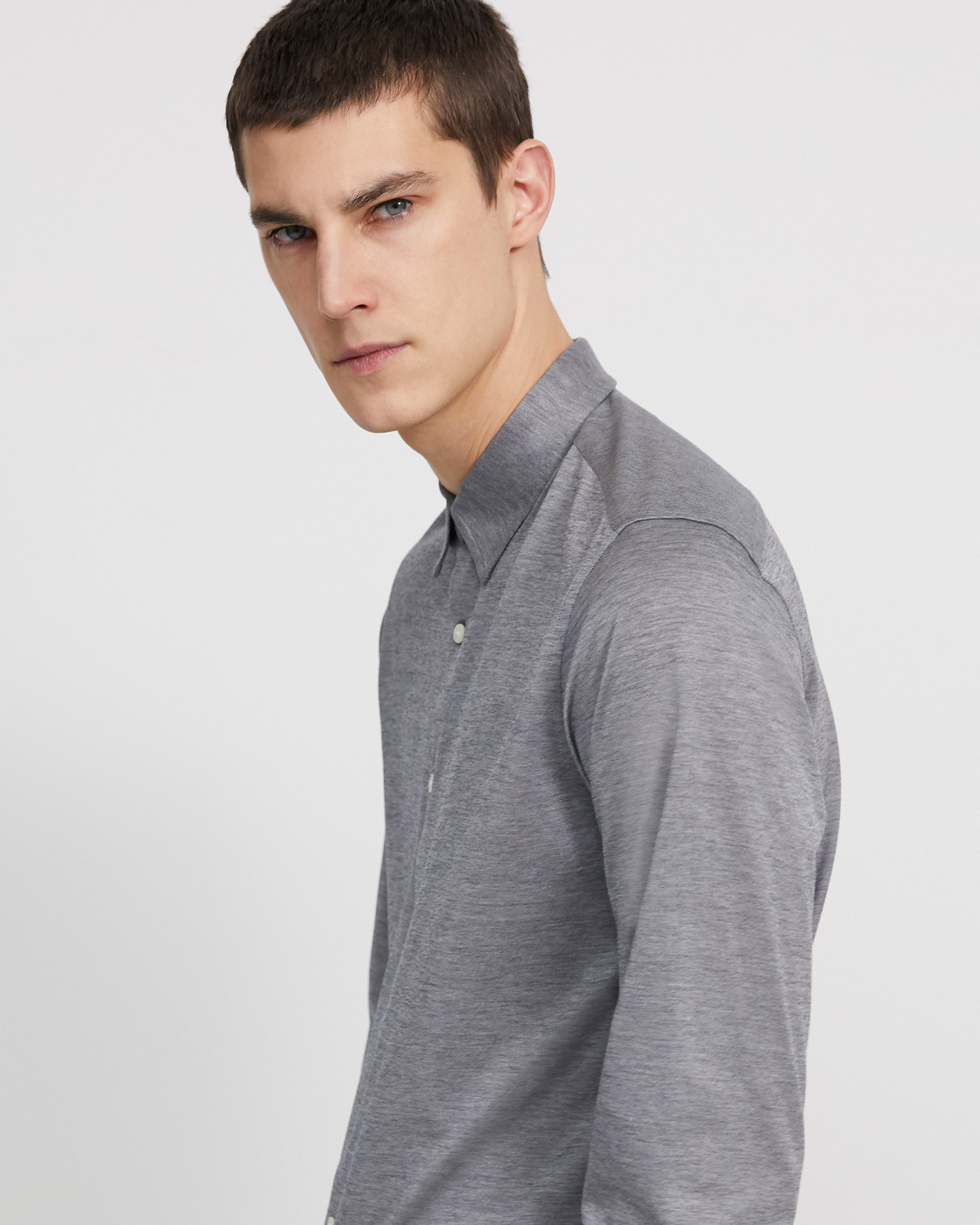 POINT KNIT SHIRT
