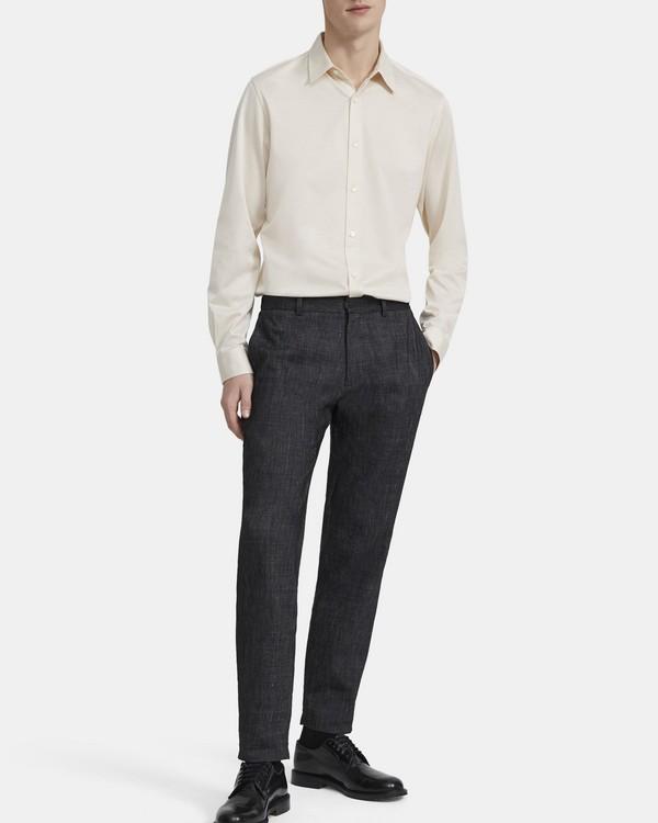 띠어리 맨 니트 셔츠 Theory Knit Shirt in Cotton Jersey