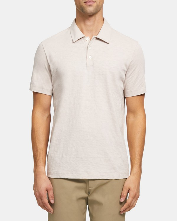 Polo Shirt in Slub Cotton