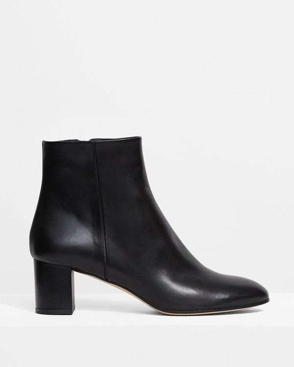 띠어리 Theory Block 60 Boot in Leather,BLACK