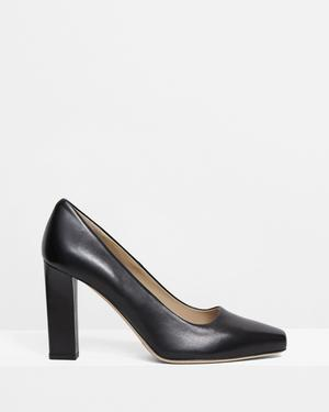 Slim Square Pump in Leather