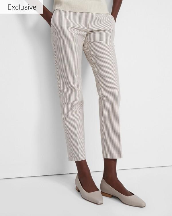 띠어리 데이 플랫 슈즈 - 씨멘트 (가죽) Theory Day Flat in Leather,CEMENT