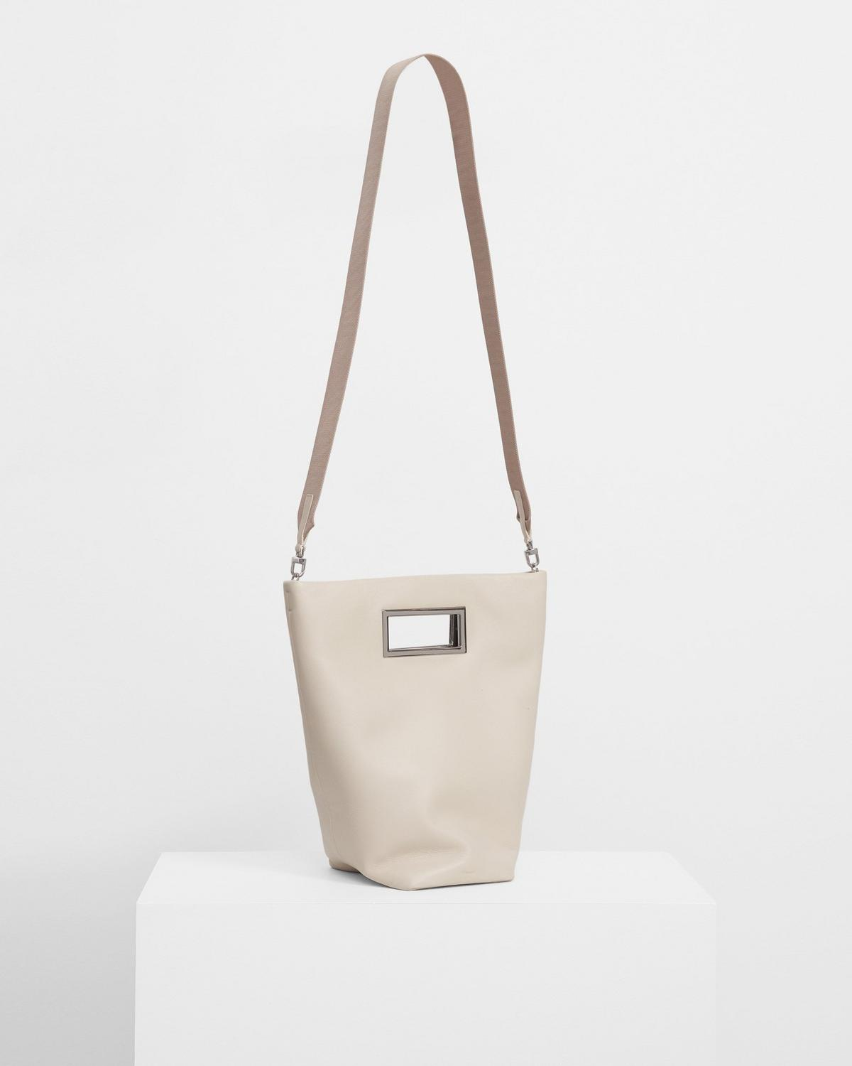 Medium Cutout Tote in Leather
