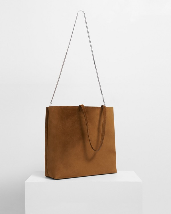20FW 띠어리 심플 토트백, 스웨이드 - 꼬냑 Theory Simple Tote in Suede